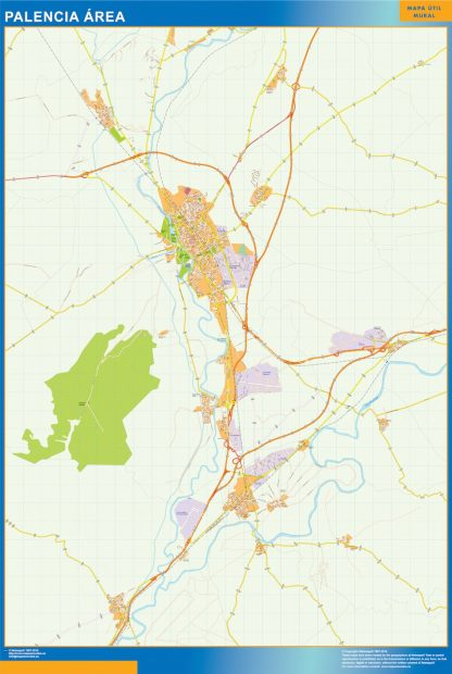 Mapa carreteras Palencia Area gigante