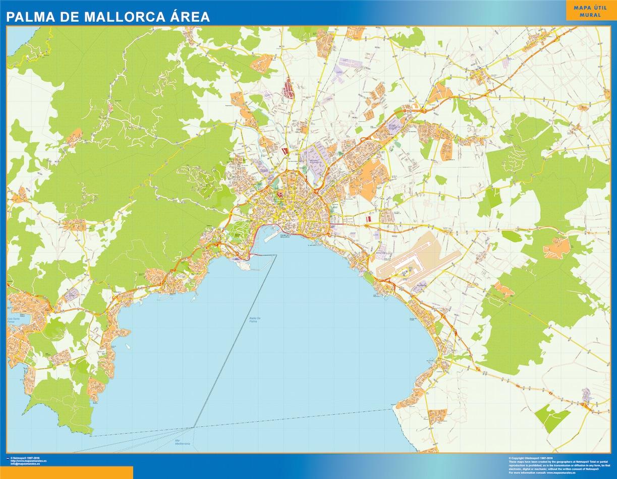 Mapa Carreteras De Mallorca.Mapa Carreteras Palma Mallorca Area Grande Mapasmurales Com