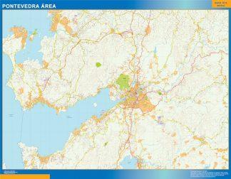 Mapa carreteras Pontevedra Area gigante