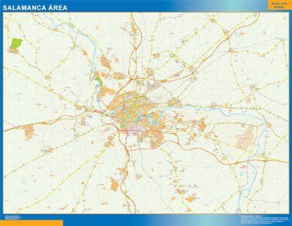 Mapa carreteras Salamanca Area gigante