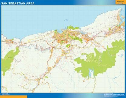 Mapa carreteras San Sebastian Area gigante