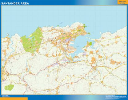 Mapa carreteras Santander Area gigante