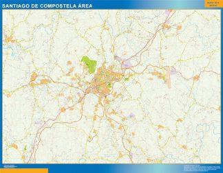 Mapa carreteras Santiago Compostela Area gigante