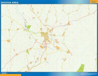 Mapa carreteras Segovia Area gigante