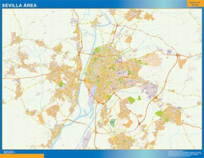 Mapa carreteras Sevilla Area gigante