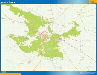 Mapa carreteras Soria Area gigante