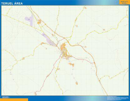 Mapa carreteras Teruel Area gigante