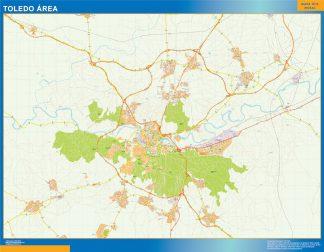 Mapa carreteras Toledo Area gigante