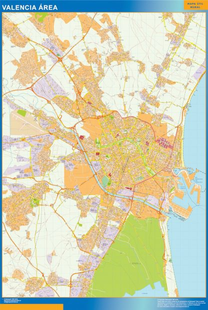 Mapa carreteras Valencia Area gigante