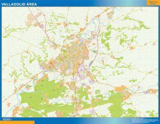 Mapa carreteras Valladolid Area gigante