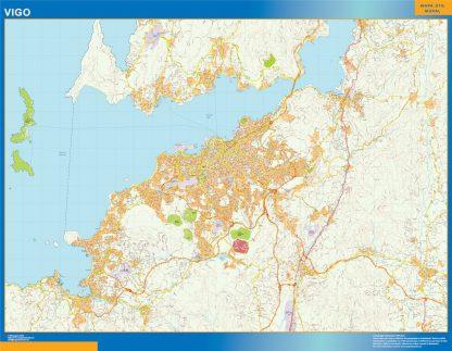 Mapa carreteras Vigo Area gigante