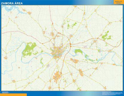 Mapa carreteras Zamora Area gigante