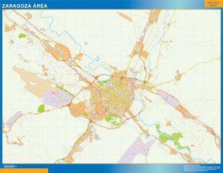 Mapa carreteras Zaragoza Area gigante