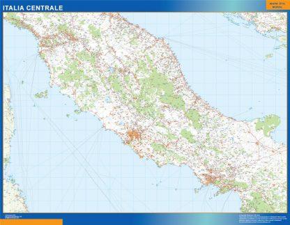 Mapa centro Italia carreteras gigante