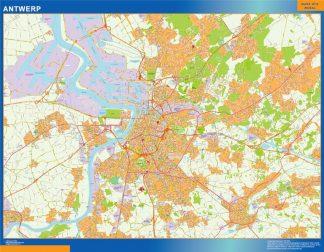 Mapa de Amberes en Bélgica gigante