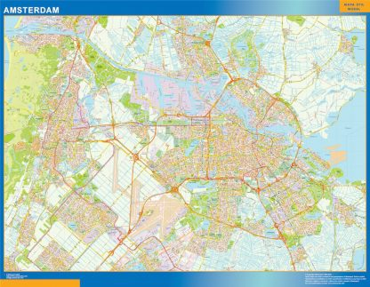 Mapa de Amsterdam gigante