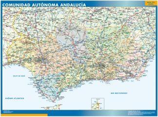 Mapa de Andalucia gigante