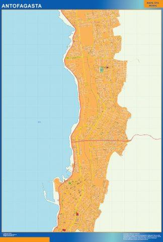 Mapa de Antofagasta en Chile gigante