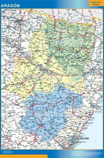 Mapa de Aragon gigante