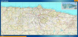 Mapa de Asturias relieve gigante