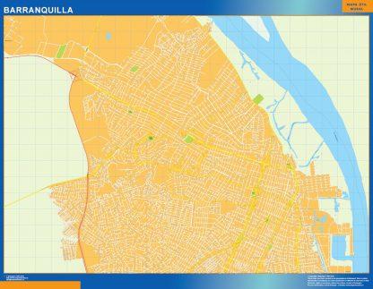 Mapa de Barranquilla en Colombia gigante