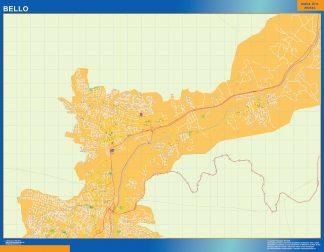 Mapa de Bello en Colombia gigante