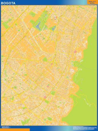 Mapa de Bogota Centro en Colombia gigante