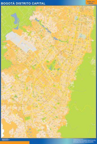 Mapa de Bogota Distrito Capital en Colombia gigante