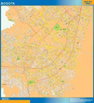 Mapa de Bogota en Colombia gigante