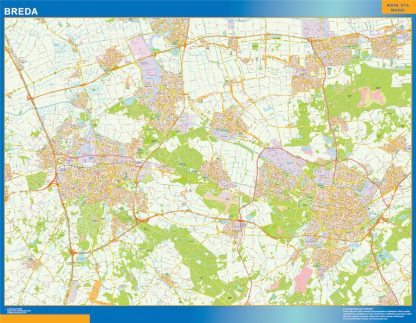 Mapa de Breda gigante
