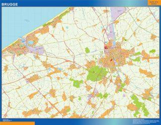 Mapa de Brujas en Bélgica gigante