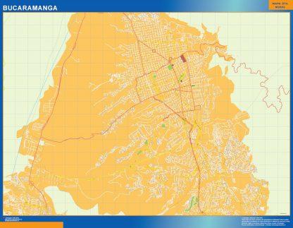 Mapa de Bucaramanga en Colombia gigante