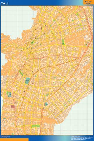 Mapa de Cali en Colombia gigante