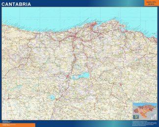 Mapa de Cantabria gigante