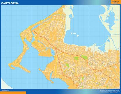 Mapa de Cartagena en Colombia gigante