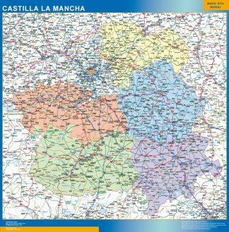 Mapa de Castilla La Mancha gigante