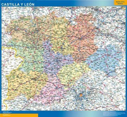 Mapa de Castilla y Leon gigante