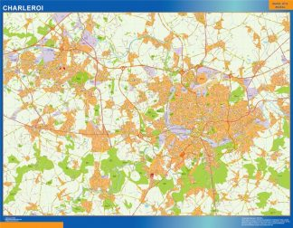 Mapa de Charleroi en Bélgica gigante