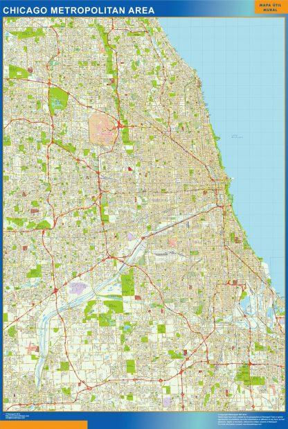 Mapa de Chicago gigante