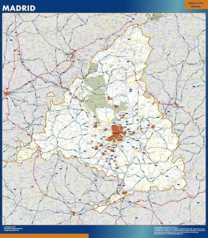 Mapa de Comunidad Madrid gigante
