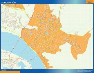 Mapa de Concepcion en Chile gigante