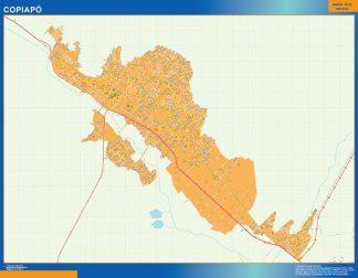 Mapa de Copiapo en Chile gigante