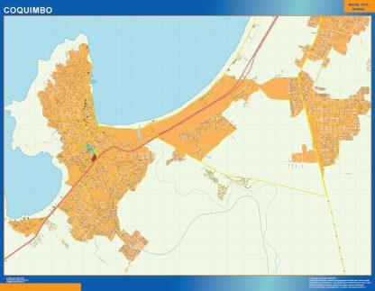 Mapa de Coquimbo en Chile gigante