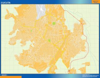Mapa de Cucuta en Colombia gigante