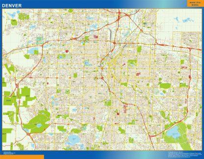 Mapa de Denver gigante