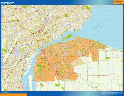 Mapa de Detroit gigante