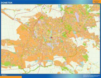 Mapa de Donetsk en Ucrania gigante