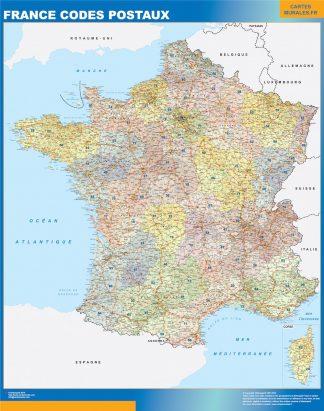 Mapa de Francia de códigos postales gigante