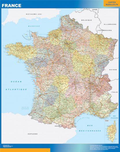 Mapa de Francia politico gigante