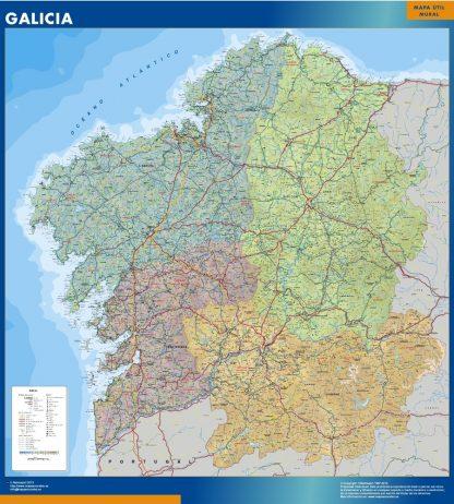 Mapa de Galicia gigante